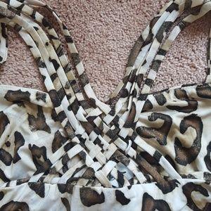 Cache Tops - Cache leopard print tank
